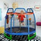 7FT Kids Trampoline W/ Safety Enclosure Net