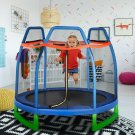 7FT Kids Trampoline W/ Safety Enclosure Net