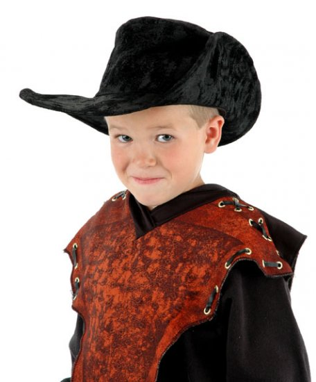 KIDS Musketeer Pirate Hat Ultra Suede NEW Adjust Size!