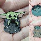 Set 3 pcs Baby Yoda Enamel Pin Badge Mandalorian Boba Fett Props Holiday Play Kids Child Gift