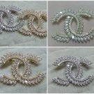 Fashion cc zircon rhinestones brooch