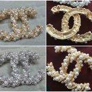 Fashion cc pearls brooch