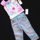 Lipstik Daisy Dream Top and Pants Size 4 New