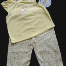 2 PC Carter's Yellow Pajamas, Top and Pants, 2T New