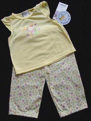 2 PC Carter's Yellow Pajamas, Top and Pants, 2T New