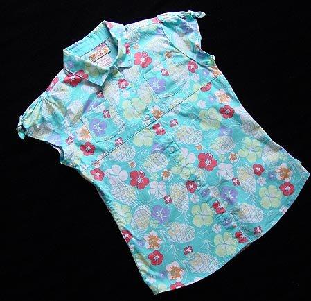Caribbean Joe Blue Tropical Shirt XL 16 New