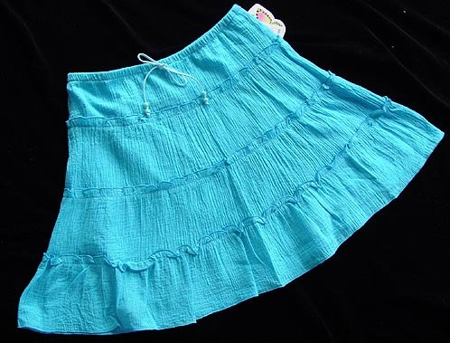 My Michelle Blue Peasant Skirt Large 12-14 New