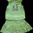 Gap Green Maui Top and Skort XS 4-5 New