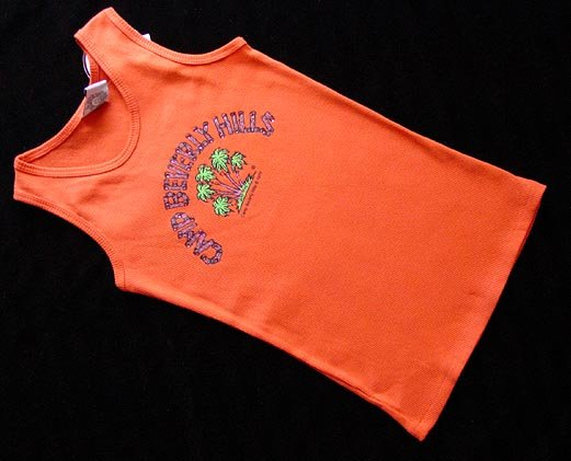 Camp Beverly Hills Orange Tank Top Size 14 New