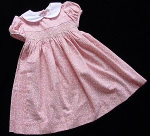 Boutique Anavini Coral Smocked Dress 4 New NWT