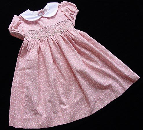 Boutique Anavini Coral Smocked Dress 5 New NWT