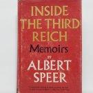 Inside The Third Reich Memoirs by Albert Speer Hard Cover