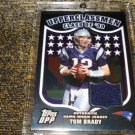 ]Tom Brady] 2007 Topps Draft Picks And Prospects Upperclassmen Jersey Silver  (GU Jersey, 28/50)