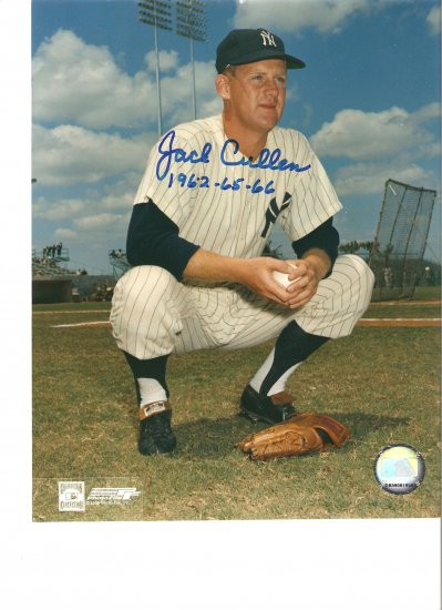 Jack Cullen (NY Yankees) Autographed 8x10 w/ C.O.A.