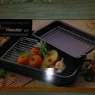 """New in Box! KITCHEN ELEMENTS 4 Piece Roaster Set 16"""" x 12"""" & 12"""" x 8"""" With Racks"""