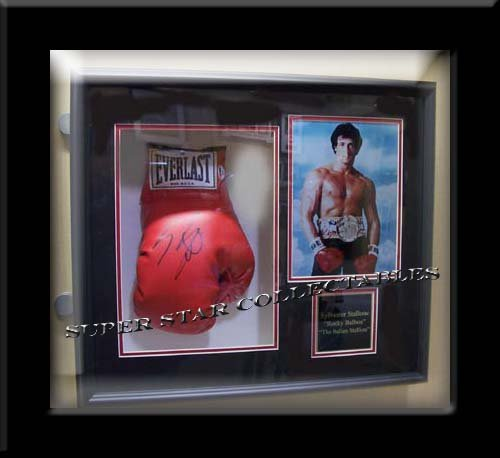 Sylvester Stallone Autographed Rocky Shadow Box