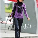 cutey purple sweater one size