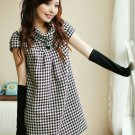 Short Sleeve Winter Dress Gray L Size