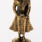 "Southeast Asia Gold Thailand Brass Standing Charity Buddha Statue - 6cm/2.5"""