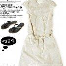 Japan-minimal cream-coloured dress - S size