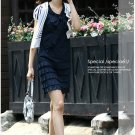 Tiered low-waist shift dress - dark blue