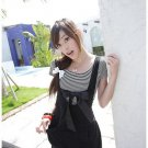 D25-Black dress with striped top