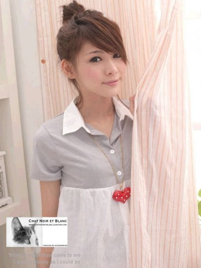 Grey-white Tee/Shirt