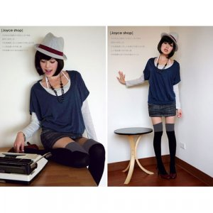A5-Trendy Multi-Match Knee Socks - Gray