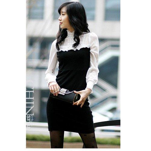 D9-Chiffon + Lycra Elegant Executive Dress