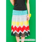 Multi-coloured cheerful skirt