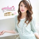 T1-Sweet blouse - light blue
