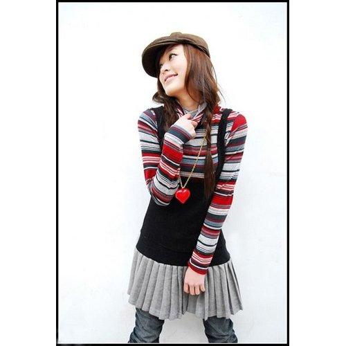 D4-One piece street dress / pleated skirt