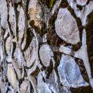 Mossy Brick Wall Digital Image