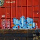 VDA Freight Train Graffiti Transportation Digital Art Image Photograph