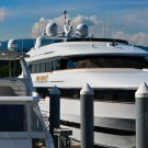 Yacht In Harbour Digital Art Image Photograph