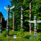Many Totem Poles Digital Art Image Photograph