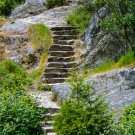Steps Up the Cliff Side Digital Art Image Photograph