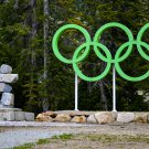 Olympic Rings Symbol and Statue Digital Art Image Photograph