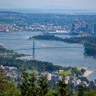 City Skyline Ocean Bridge Digital Art Image Photograph