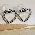 Silver Tone Open Heart Love Women Earrings Jewelry Fashion Style Stud Pretty