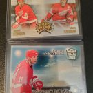 2 NHL Hockey Card Detroit Red Wings Lot Dynagon Ice Lords Rink Yzerman Fedorov