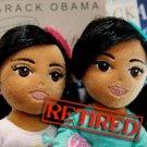 Original Authentic Ty Obama girls girlz retired Sasha Malia Dolls