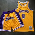 Men's Lakers Kobe Bryant 1996 1997 Throwback Jersey Shorts Stitched Yellow Sets