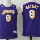 Youth Los Angeles Lakers Kobe Bryant Purple Throwback Kids Basketball Jersey Embroidered