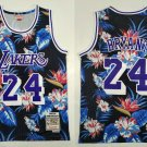 Men's La Lakers Kobe Bryant 24 Flowers Throwback Basketball Jersey Embroidered