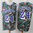 Men's Los Angeles Lakers Kobe Bryant Camo Throwback Basketball Jersey Embroidered