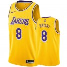 Men's Los Angeles Lakers Kobe Bryant Yellow Throwback Jerseys Embroidered