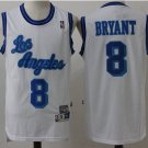 Men's Los Angeles Lakers 8 Kobe Bryant White Throwback Jerseys