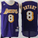 Men's Los Angeles Lakers Kobe Bryant Purple Throwback Basketball Jersey Embroidered