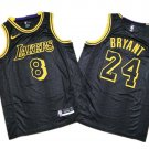 Men's Kobe Bryant jersey 8 and 24 together black